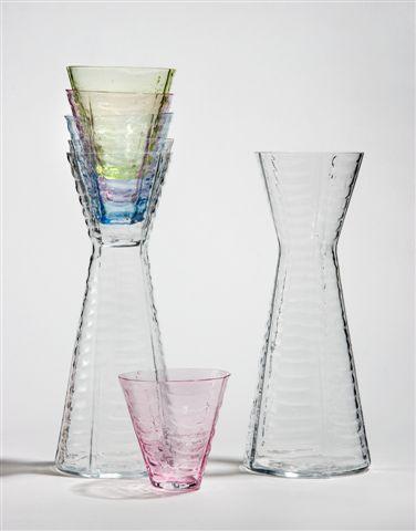 Karafler m. farvede glas